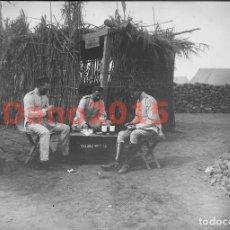 Militaria: CAMPAÑA MILITAR GUERRA DEL RIF MARRUECOS 1909 SANIDAD MILITAR - NEGATIVO DE CRISTAL. Lote 134308010