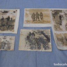 Militaria: * LOTE DE 6 FOTOGRAFIA ANTIGUA DE ESQUIADORES MILITARES DE 1953. ORIGINALES. ZX. Lote 134864574
