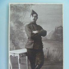 Militaria: FOTO DE ESTUDIO DE MILITAR FRANCES CON GORRILLO . FRANCIA, 1 ª GUERRA MUNDIAL. Lote 134883114