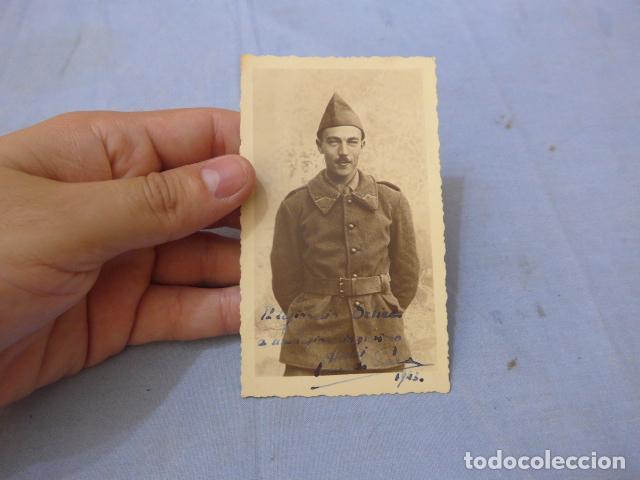* ANTIGUA FOTOGRAFIA DE SOLDADO FRANCES ALIADO ALEMAN EN RUSIA, GENERAL VIERNA. DIVISION AZUL. ZX (Militar - Fotografía Militar - II Guerra Mundial)