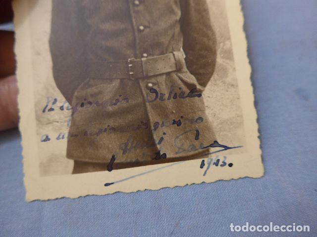 Militaria: * Antigua fotografia de soldado frances aliado aleman en Rusia, general vierna. Division azul. ZX - Foto 2 - 135033602