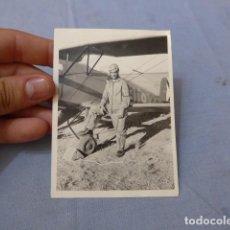 Militaria: * ANTIGUA FOTOGRAFIA DE PILOTO AVIADOR EN GUERRA CIVIL, CAPITAN SALES. AVIACION. ORIGINAL. ZX. Lote 135038422