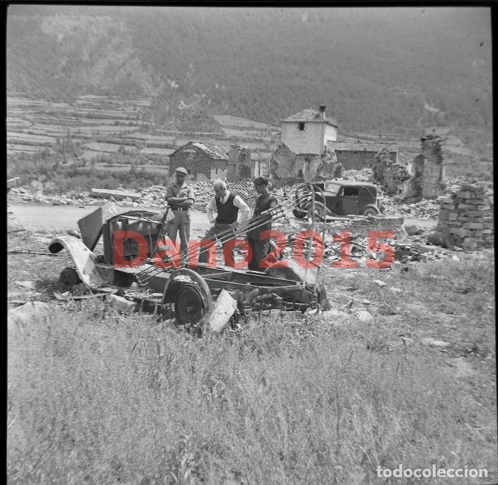 GAVIN, HUESCA PUEBLO DESTRUIDO - GUERRA CIVIL ESPAÑOLA - NEGATIVO DE CELULOIDE (Militar - Fotografía Militar - Guerra Civil Española)