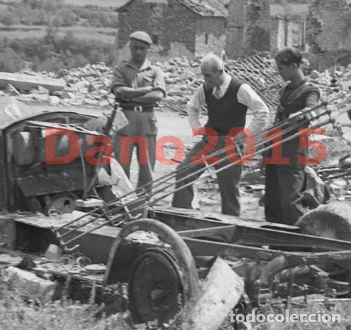Militaria: Gavin, Huesca Pueblo Destruido - Guerra Civil Española - Negativo de Celuloide - Foto 2 - 135175622