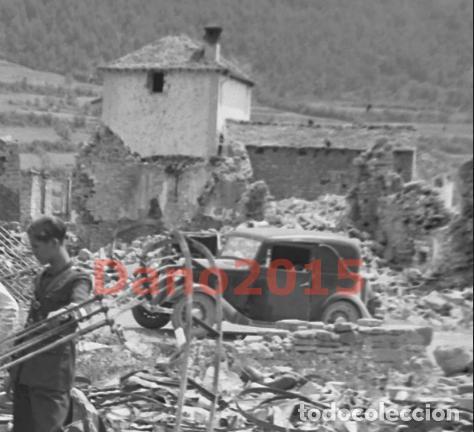 Militaria: Gavin, Huesca Pueblo Destruido - Guerra Civil Española - Negativo de Celuloide - Foto 3 - 135175622