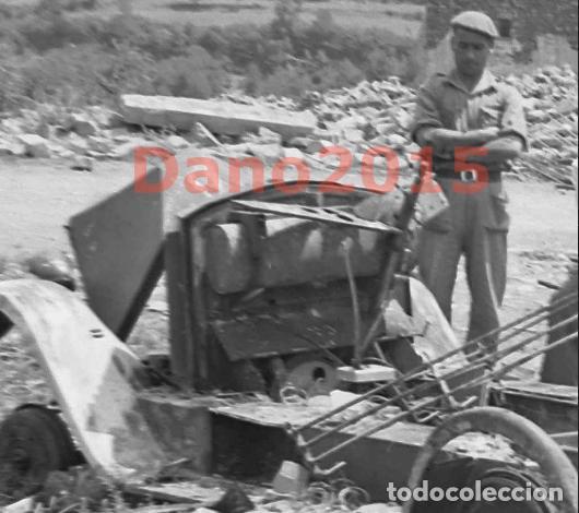 Militaria: Gavin, Huesca Pueblo Destruido - Guerra Civil Española - Negativo de Celuloide - Foto 4 - 135175622