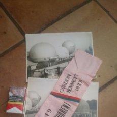 Militaria: LOTE DE BRAZALETE Y 3 FOTOGRAFÍAS DE LA COPA GORDON BENNETT AÑO 1925 DE GLOBOS AEROSTÁTICOS. Lote 135193914