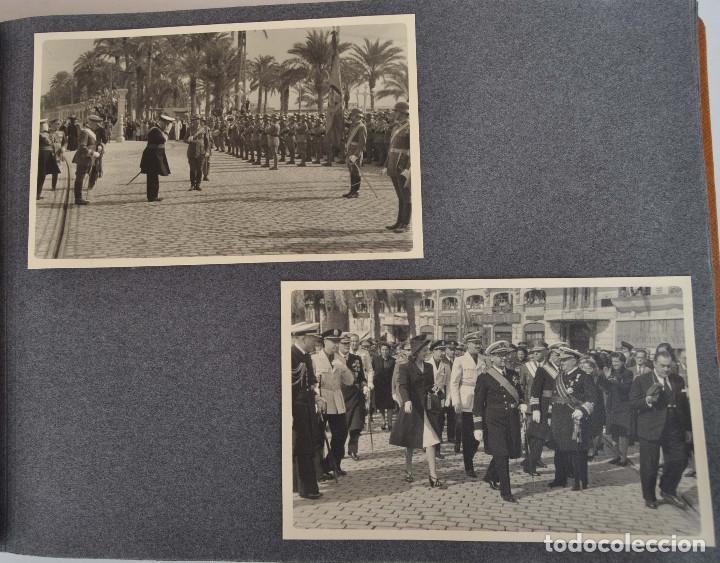 Militaria: ÁLBUM. ALICANTE 12 DE OCTUBRE 1944. VIRGEN DEL CARMEN. PERSONALIDADES. FALANGE. AVIACIÓN. BASE AÉREA - Foto 2 - 135226126
