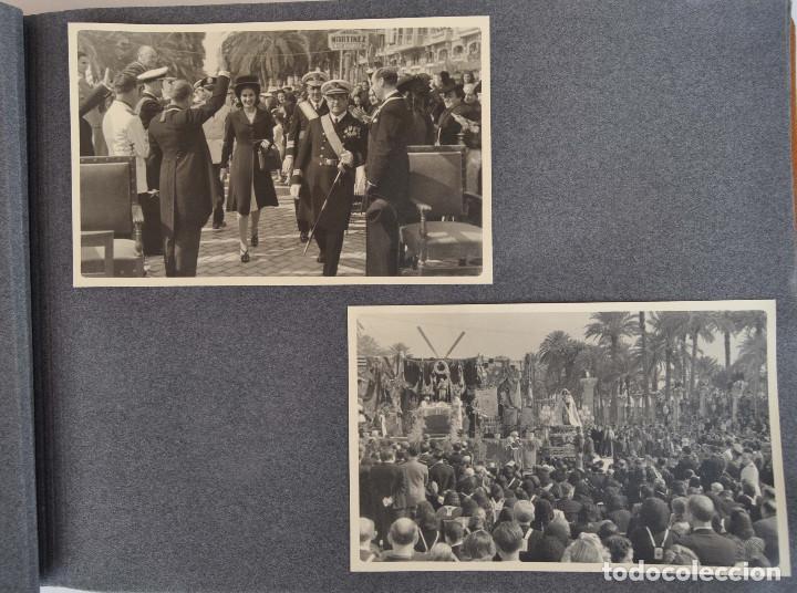 Militaria: ÁLBUM. ALICANTE 12 DE OCTUBRE 1944. VIRGEN DEL CARMEN. PERSONALIDADES. FALANGE. AVIACIÓN. BASE AÉREA - Foto 3 - 135226126