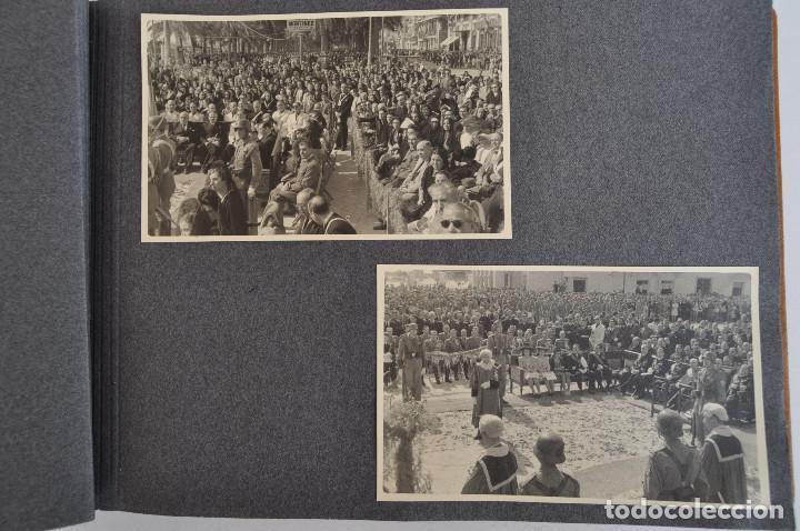 Militaria: ÁLBUM. ALICANTE 12 DE OCTUBRE 1944. VIRGEN DEL CARMEN. PERSONALIDADES. FALANGE. AVIACIÓN. BASE AÉREA - Foto 8 - 135226126