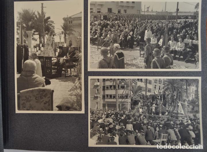 Militaria: ÁLBUM. ALICANTE 12 DE OCTUBRE 1944. VIRGEN DEL CARMEN. PERSONALIDADES. FALANGE. AVIACIÓN. BASE AÉREA - Foto 9 - 135226126