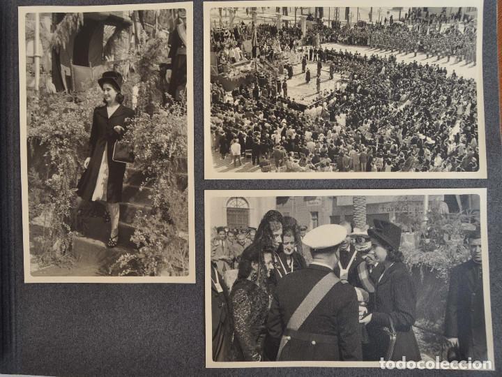 Militaria: ÁLBUM. ALICANTE 12 DE OCTUBRE 1944. VIRGEN DEL CARMEN. PERSONALIDADES. FALANGE. AVIACIÓN. BASE AÉREA - Foto 10 - 135226126