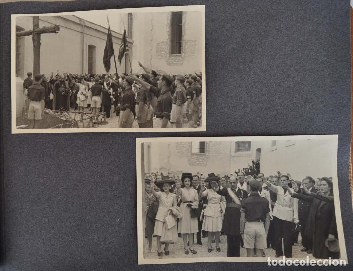 Militaria: ÁLBUM. ALICANTE 12 DE OCTUBRE 1944. VIRGEN DEL CARMEN. PERSONALIDADES. FALANGE. AVIACIÓN. BASE AÉREA - Foto 12 - 135226126