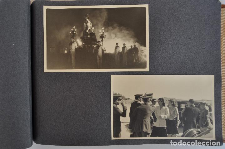 Militaria: ÁLBUM. ALICANTE 12 DE OCTUBRE 1944. VIRGEN DEL CARMEN. PERSONALIDADES. FALANGE. AVIACIÓN. BASE AÉREA - Foto 17 - 135226126