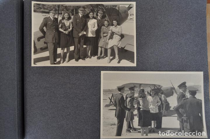 Militaria: ÁLBUM. ALICANTE 12 DE OCTUBRE 1944. VIRGEN DEL CARMEN. PERSONALIDADES. FALANGE. AVIACIÓN. BASE AÉREA - Foto 21 - 135226126