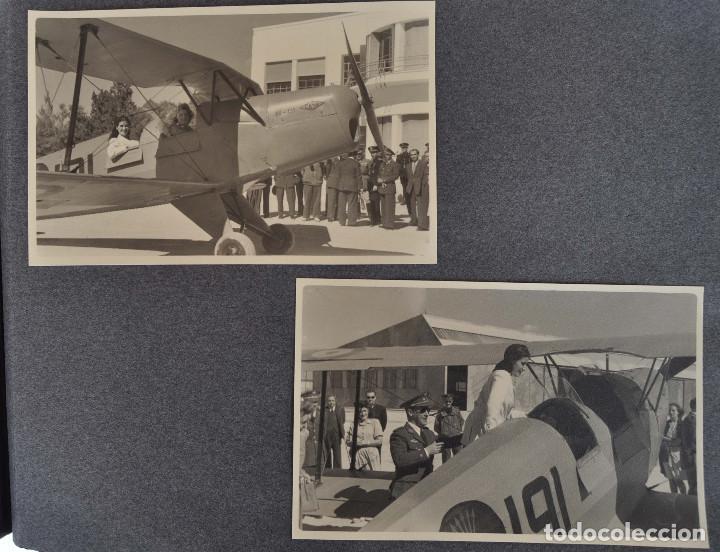 Militaria: ÁLBUM. ALICANTE 12 DE OCTUBRE 1944. VIRGEN DEL CARMEN. PERSONALIDADES. FALANGE. AVIACIÓN. BASE AÉREA - Foto 23 - 135226126