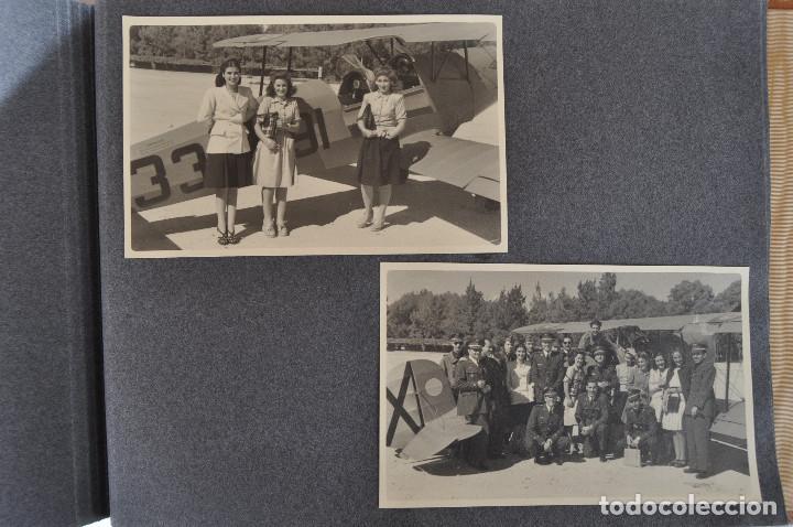 Militaria: ÁLBUM. ALICANTE 12 DE OCTUBRE 1944. VIRGEN DEL CARMEN. PERSONALIDADES. FALANGE. AVIACIÓN. BASE AÉREA - Foto 26 - 135226126