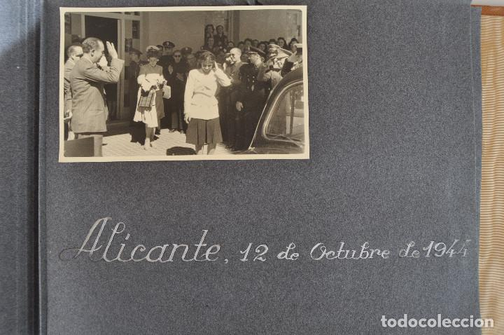 Militaria: ÁLBUM. ALICANTE 12 DE OCTUBRE 1944. VIRGEN DEL CARMEN. PERSONALIDADES. FALANGE. AVIACIÓN. BASE AÉREA - Foto 28 - 135226126