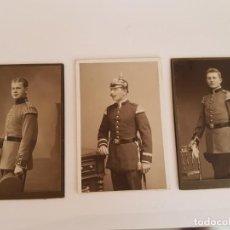 Militaria: REICH ALEMÁN: LOTE DE 3 FOTOGRAFIAS ORIGINALES DE LA GUERRA MUNDIAL I, SOLDADOS ALEMANES PICKELHAUBE. Lote 135342738
