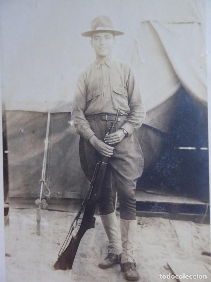 FOTOGRAFÍA SOLDADO ESPAÑOL DEL EJÉRCITO NORTEAMERICANO. AMERICAN EXPEDITIONARY FORCES 1918 (Militar - Fotografía Militar - I Guerra Mundial)