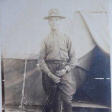 Militaria: FOTOGRAFÍA SOLDADO ESPAÑOL DEL EJÉRCITO NORTEAMERICANO. AMERICAN EXPEDITIONARY FORCES 1918. Lote 135540782
