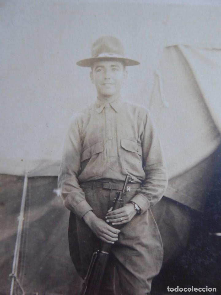 Militaria: Fotografía soldado español del ejército norteamericano. American Expeditionary Forces 1918 - Foto 3 - 135540782