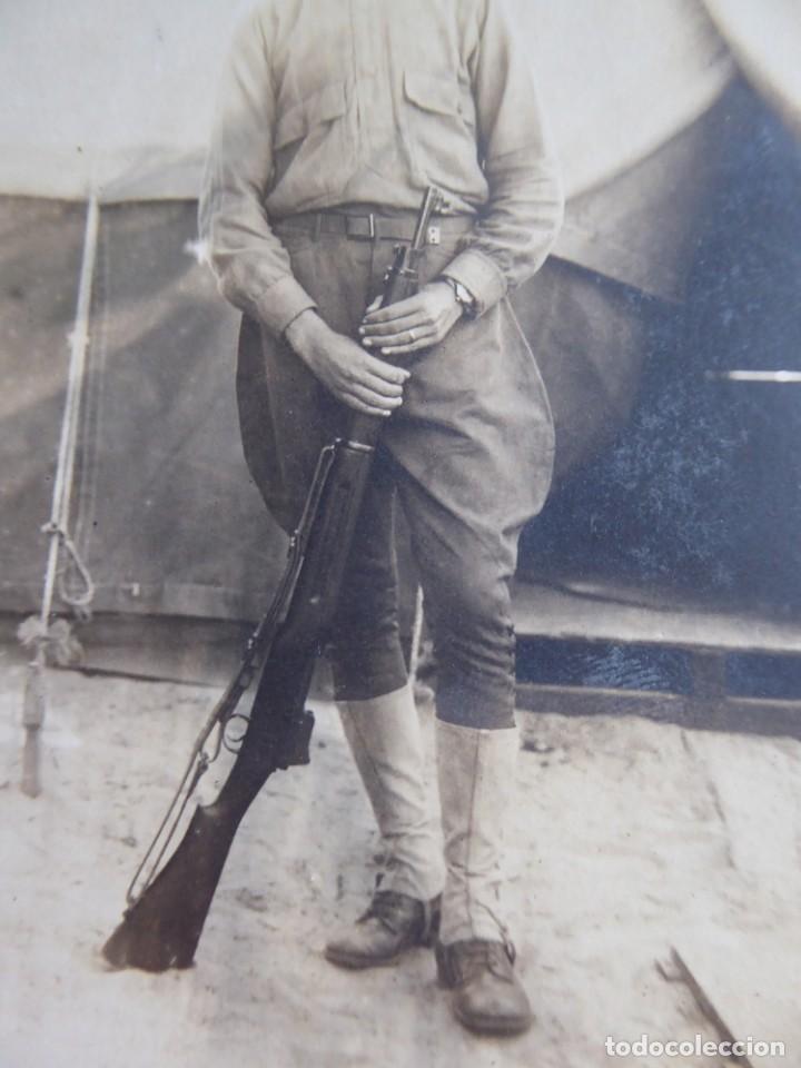 Militaria: Fotografía soldado español del ejército norteamericano. American Expeditionary Forces 1918 - Foto 4 - 135540782