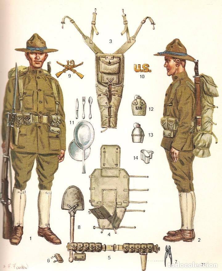 Militaria: Fotografía soldado español del ejército norteamericano. American Expeditionary Forces 1918 - Foto 5 - 135540782