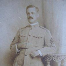 Militaria: FOTOGRAFÍA SOLDADO MÚSICO ESPAÑOL DEL EJÉRCITO NORTEAMERICANO. US ARMY MUSICIAN SPANISH HABANA 1913. Lote 135541370