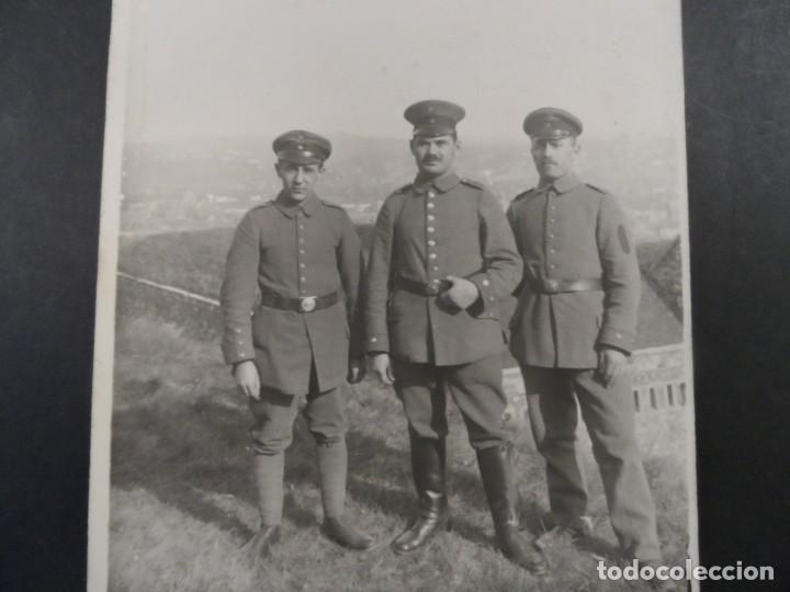 3 SOLDADOS IMPERIALES ALEMANES. II REICH. AÑOS 1914-18 (Militar - Fotografía Militar - I Guerra Mundial)