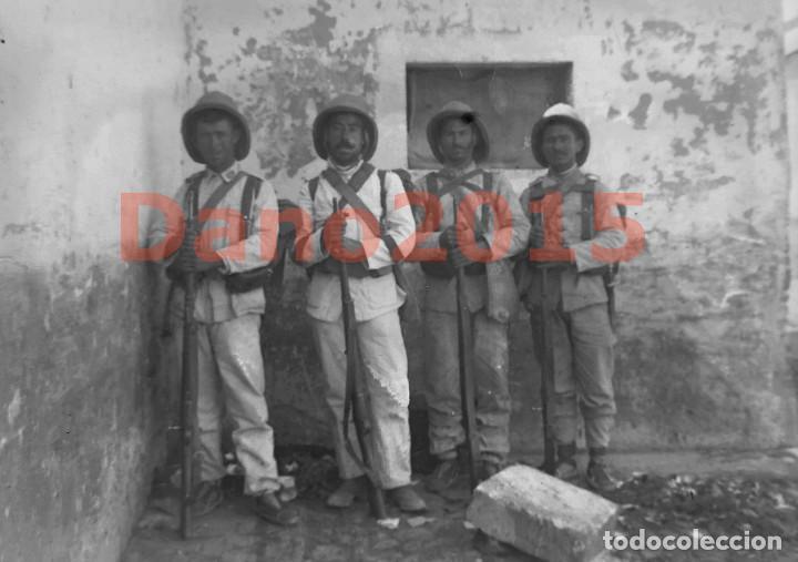 CAMPAÑA MILITAR GUERRA DEL RIF MARRUECOS 1909 - NEGATIVO DE CRISTAL - FOTOGRAFIA ANTIGUA (Militar - Fotografía Militar - Otros)