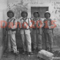 Militaria: CAMPAÑA MILITAR GUERRA DEL RIF MARRUECOS 1909 - NEGATIVO DE CRISTAL - FOTOGRAFIA ANTIGUA. Lote 136033722