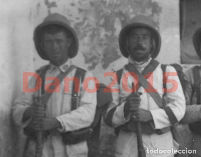 Militaria: CAMPAÑA MILITAR GUERRA DEL RIF MARRUECOS 1909 - NEGATIVO DE CRISTAL - FOTOGRAFIA ANTIGUA - Foto 2 - 136033722