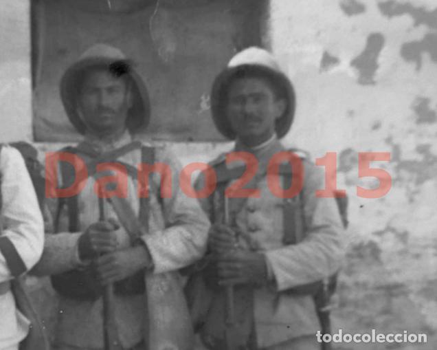 Militaria: CAMPAÑA MILITAR GUERRA DEL RIF MARRUECOS 1909 - NEGATIVO DE CRISTAL - FOTOGRAFIA ANTIGUA - Foto 3 - 136033722