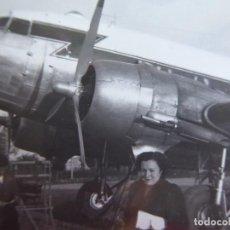 Militaria: FOTOGRAFÍA DC-3 AVIÓN IBERIA.. Lote 136159334