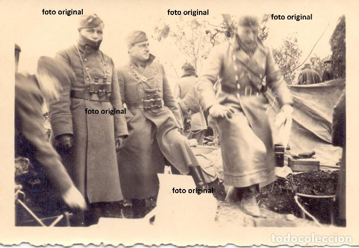 OFICIALES LEGION CONDOR ZONA MONTAÑOSA TARRAGONA ARTILLERIA TRANSMISIONES GUERRA CIVIL (Militar - Fotografía Militar - Guerra Civil Española)