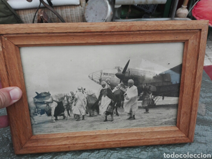 FOTOGRAFIA DE SIIDINEI..TROPAS ESPERANDO A OFICIALES ESPAÑOLES ..ORIGINAL EPOCA (Militar - Fotografía Militar - Guerra Civil Española)