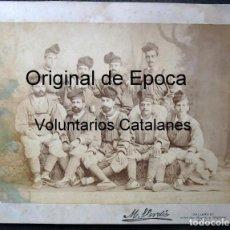 Militaria: (JX-181067) FOTOGRAFÍA , ALBUMINA SOBRE CARTÓN , VOLUNTARIOS CATALANES , CAMPAÑA DE CUBA .. Lote 136741730