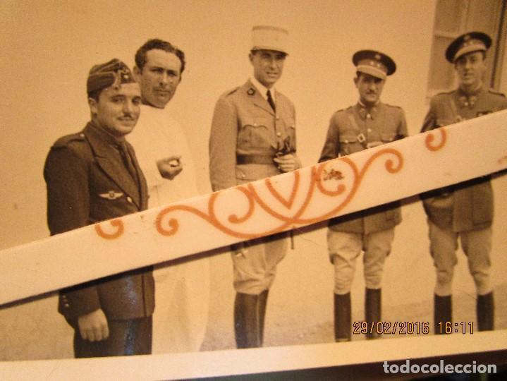 MELILLA GUERRA CIVIL MANDOS OFICIALES CAPITAN PILOTO DE AVIACION ALIADOS Y LEGION (Militar - Fotografía Militar - Guerra Civil Española)