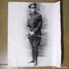 Militaria: FOTOGRAFÍA GRAN FORMATO (60 X 50 CM) DEL IV CONDE DE LA TORRE DE SAN BRAULIO. ALFEREZ 2ª REPÚBLICA. Lote 137663754