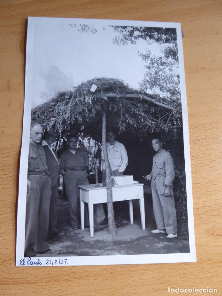 Militaria: Fotografía comandante del Ejército Popular de la República. El Pardo 1937 - Foto 2 - 137850006