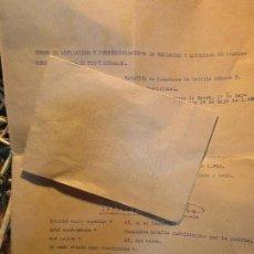 Militaria: DOCUMENTO GUERRA CIVIL 1938 TENIENTE CONDECORADO LEGION Y ALFEREZ DEL CURSO XAUEN DAR RIFFIEN 4º. Lote 137869786