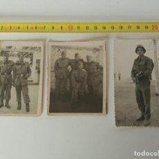 Militaria: LOTE DE 3 FOTOGRAFÍAS MILITARES, EJERCITO ESPAÑOL. Lote 137895290