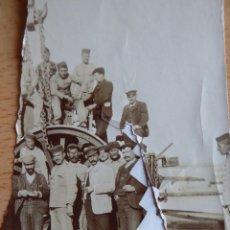 Militaria: FOTOGRAFÍA SOLDADOS DEL EJÉRCITO ESPAÑOL. OBRAS CONSTRUCCIÓN FERROCARRIL. Lote 137935106