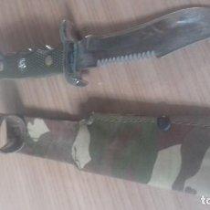 Militaria: CUCHILLO CON FUNDA DE CAMUFLAJE. Lote 138050046