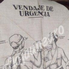 Militaria: PAÑUELO SANITARIO GUERRA CIVIL - FALANGE. MUY RARO. Lote 138530202