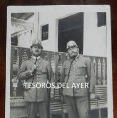 Militaria: ANTIGUA FOTOGRAFIA AGENTES CUERPO DE SEGURIDAD, SIGLAS C.S N.293 EN EL CASCO, EPOCA ALFONSO XIII, MI. Lote 138530386