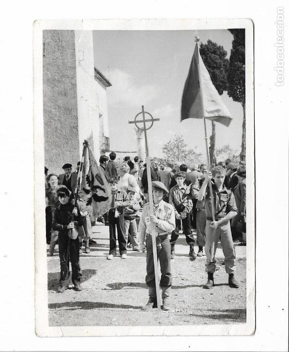 FOTOGRAFIA ORIGINAL TERCIO DE LOS DESAMPARADOS. JUVENTUDES CARLISTAS . 13X9CM (Militar - Fotografía Militar - Otros)