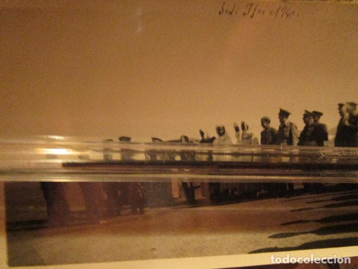 REUNION MANDOS LEGION DE MELILLA ALIADOS Y SULTAN AZUL 1940 IFNI EXCOMBATIENTES DE GUERRA CIVIL (Militar - Fotografía Militar - Guerra Civil Española)