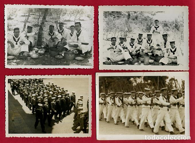 Militaria: LOTE 12 FOTOS FOTOGRAFIAS MILITARES , MARINEROS , MARINA DE CARTAGENA, MARINERIA, ORIGINALES, BL2 - Foto 2 - 138658474